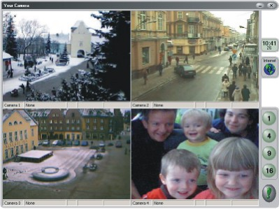 Remote video supervision system. Watching in mobile or PC. MPEG-4 SMS email FTP. Screen Shot